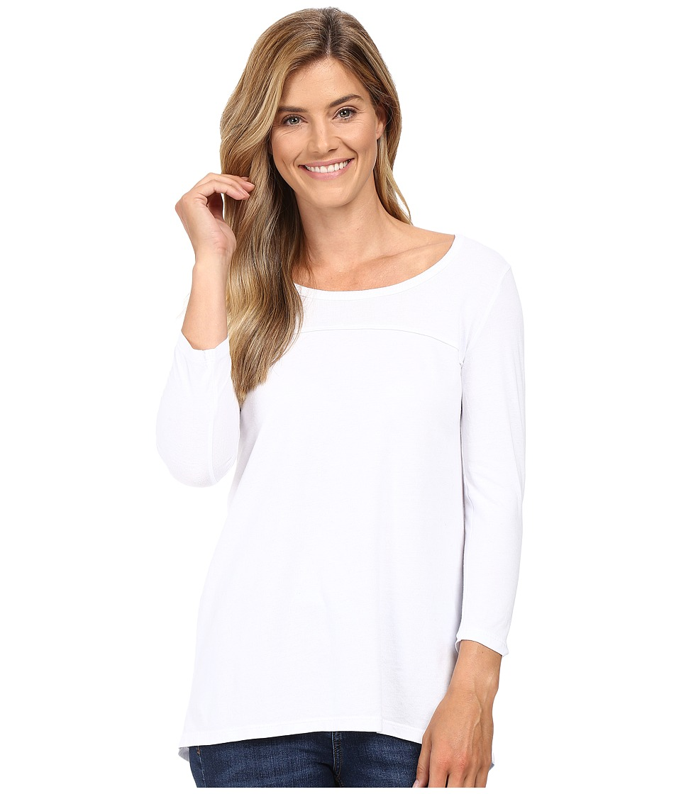 Mod-o-doc - Classic Jersey Back Rib Vented Tee (White) Women's T Shirt