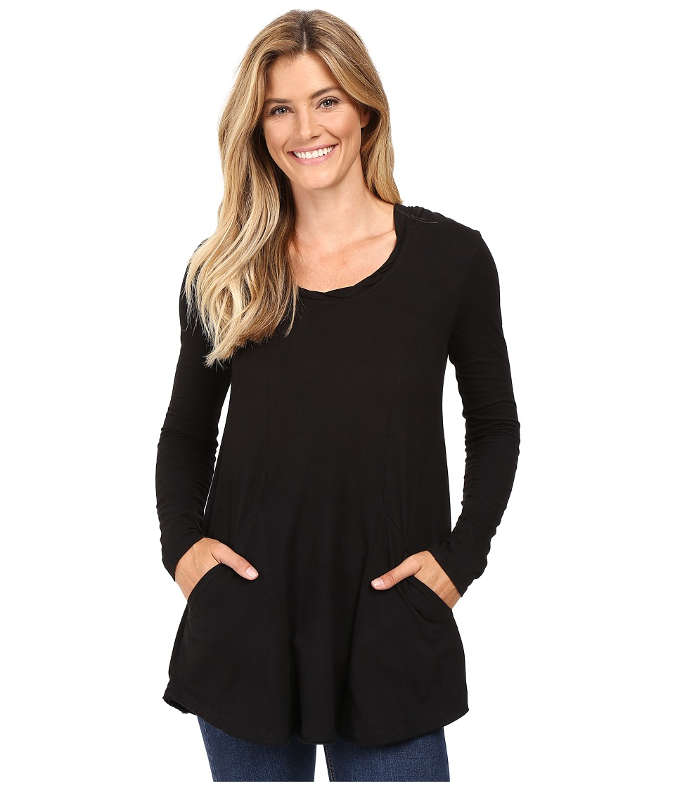 Mod-o-doc - Classic Jersey Hooded Tunic (Black) Women's Clothing