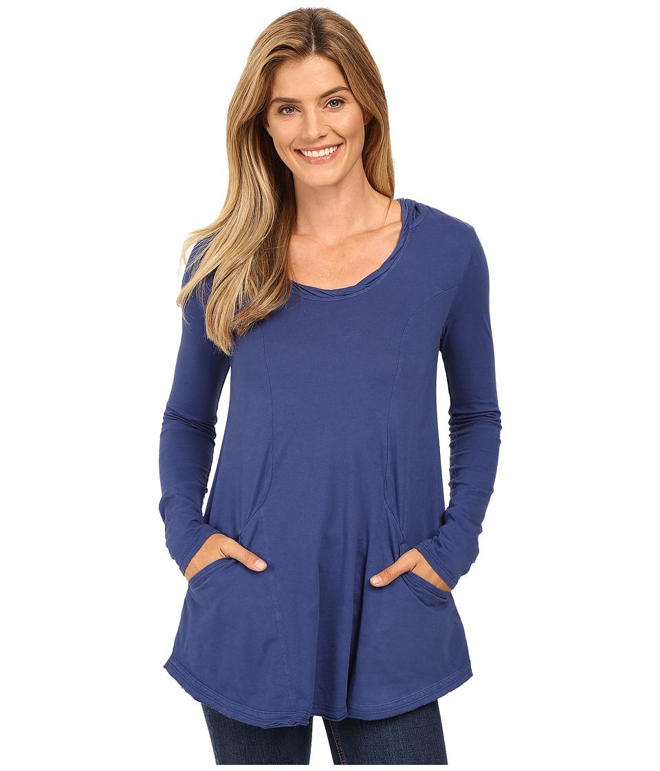 Mod-o-doc - Classic Jersey Hooded Tunic (Bluestone) Women's Clothing