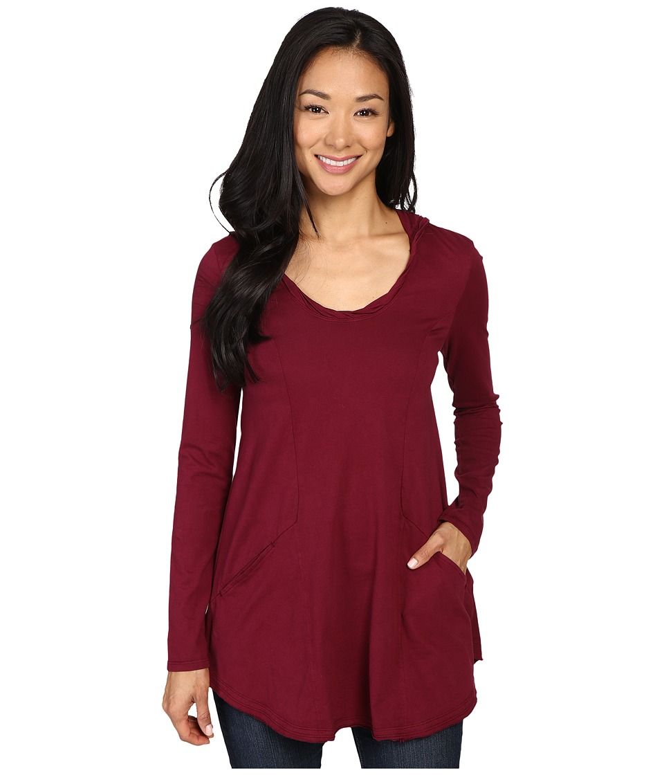 Mod-o-doc - Classic Jersey Hooded Tunic (Chianti) Women's Clothing