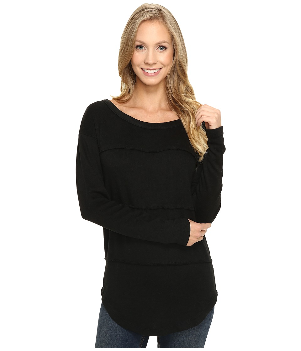 Mod-o-doc - So..Soft Sweater Knit Long Sleeve Pullover (Black) Women's Long Sleeve Pullover