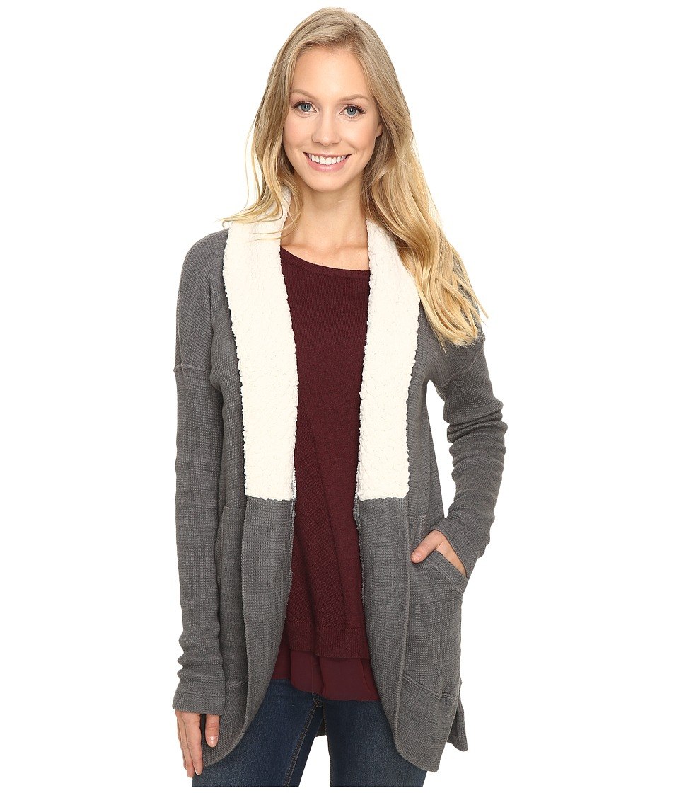 Mod-o-doc - Space Dye Thermal Sherpa Collar Cardigan (Stormy) Women's Sweater