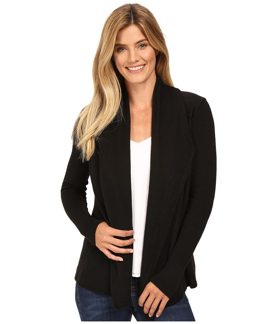 Mod-o-doc - So..Soft Sweater Knit Seamed Cardigan (Black) Women's Sweater