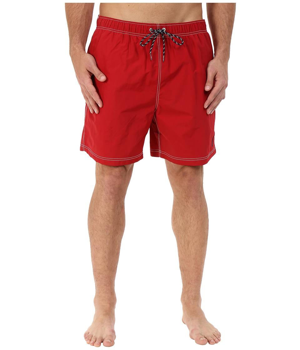 Nautica Big & Tall - Big Tall Quick Dry J Class Swim Trunk (Nautica Red) Men's Swimwear