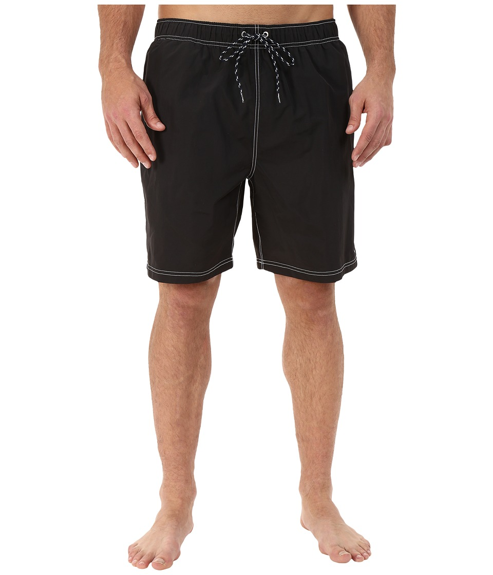 Nautica Big & Tall - Big Tall Quick Dry J Class Swim Trunk (Black) Men's Swimwear