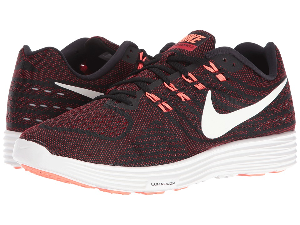 Nike - Lunartempo 2 (Black/University Red/Bright Mango/Smmit White) Men's Running Shoes