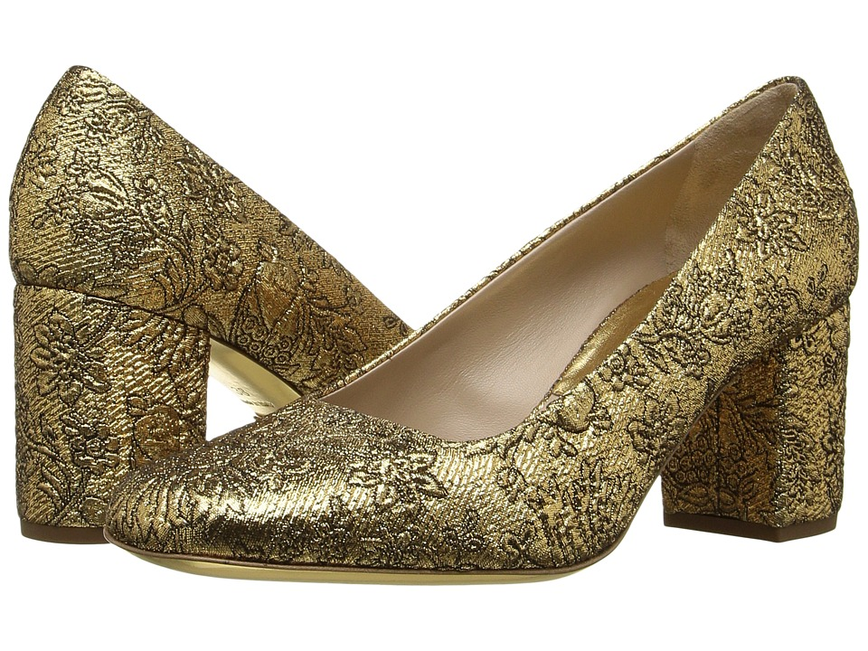 Michael Kors Gigi Runway (Gold/Black Gold/Brocade/Metallic Nappa) Women