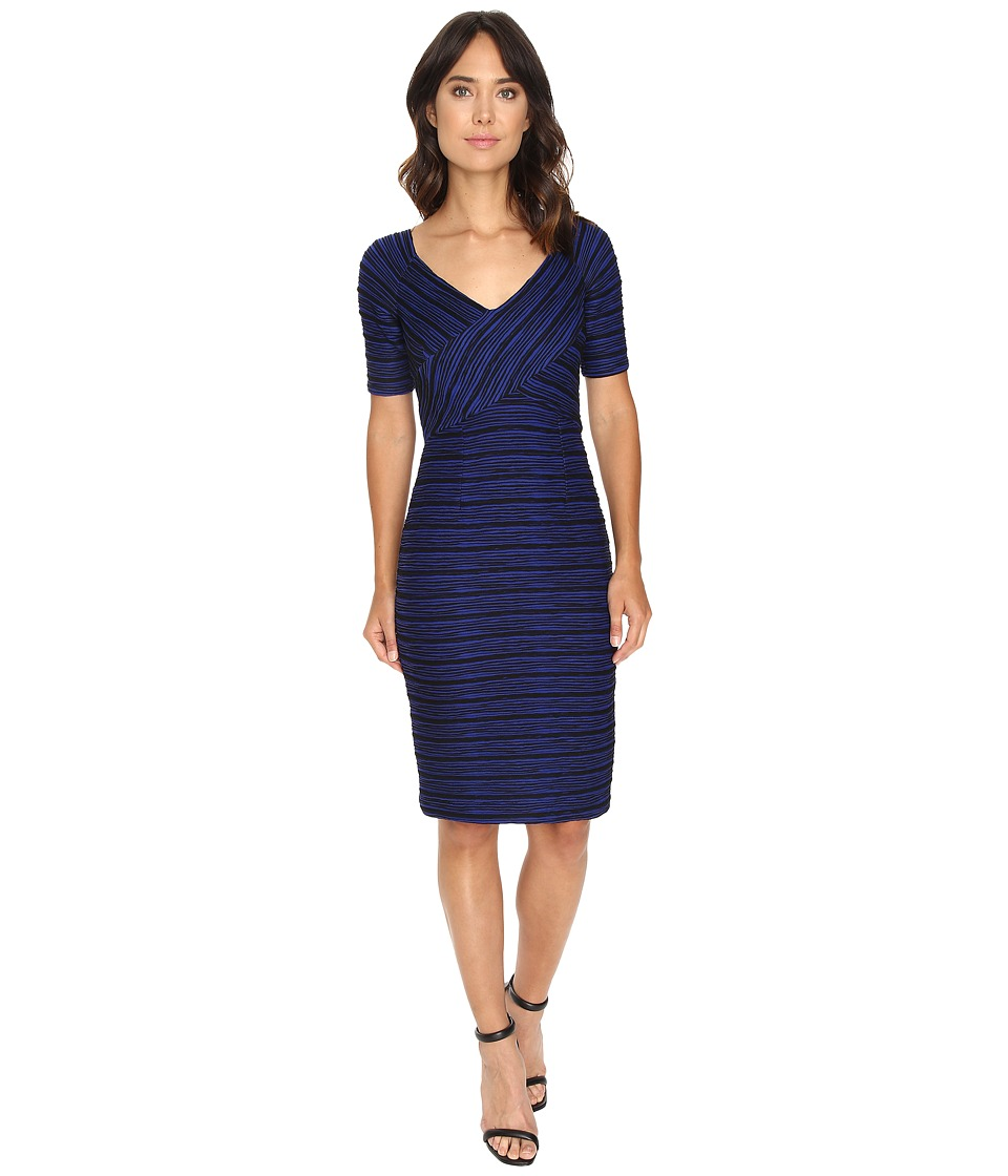 NUE by Shani Two-Tone Ottoman Bodycon Dress (Indigo/Black) Women