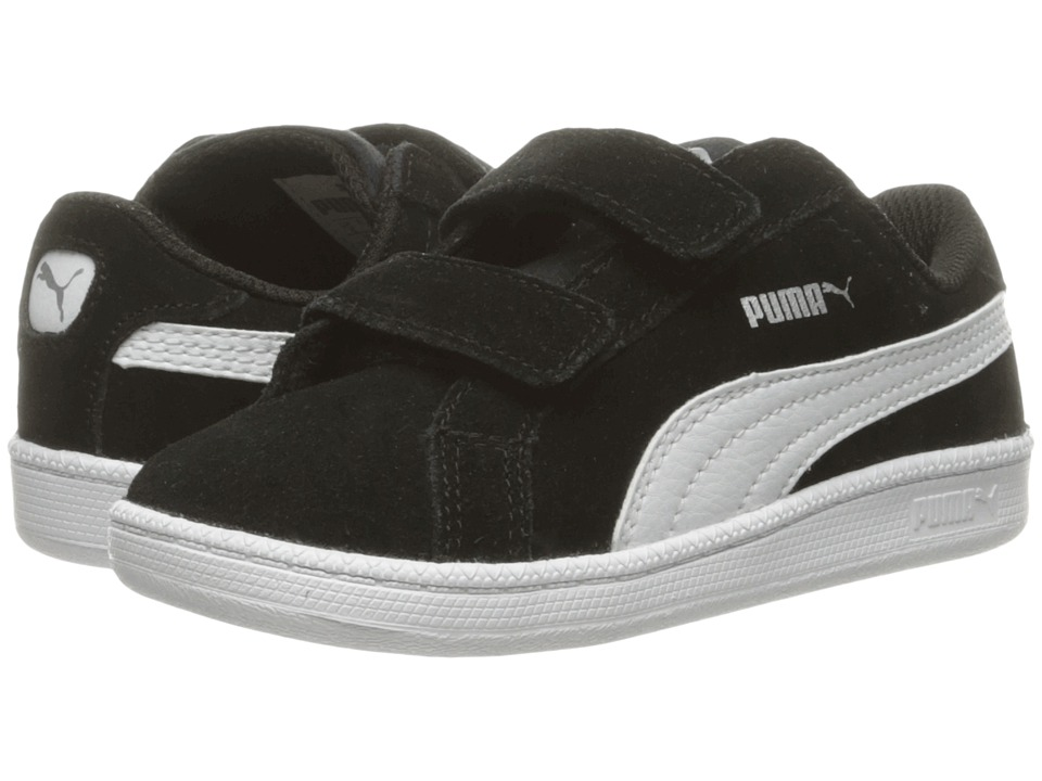 Puma Kids Smash Fun Suede (Toddler) (Puma Black/Puma White) Boys Shoes