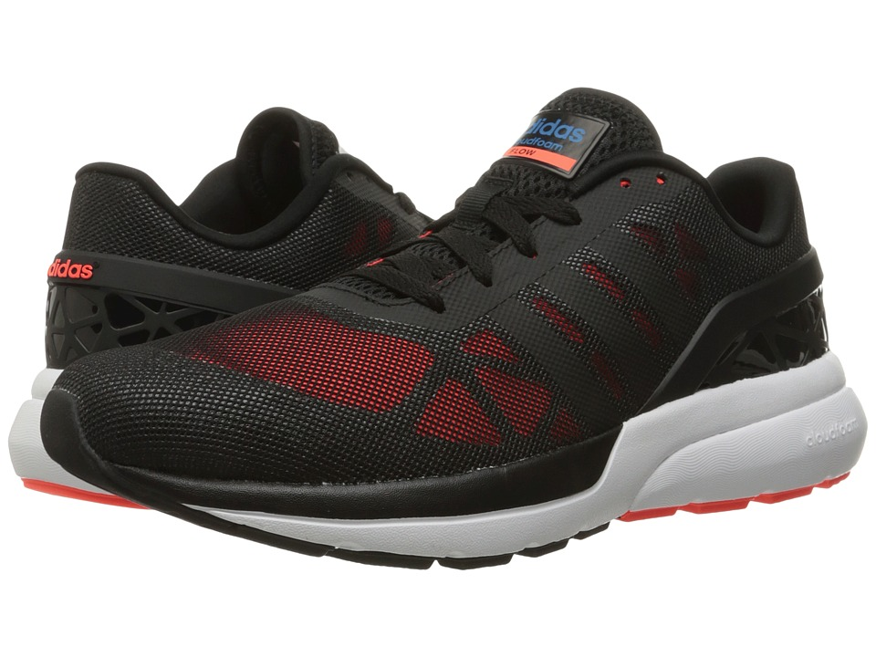 adidas - Cloudfoam Flow (Black/Solar Red) Men's Running Shoes