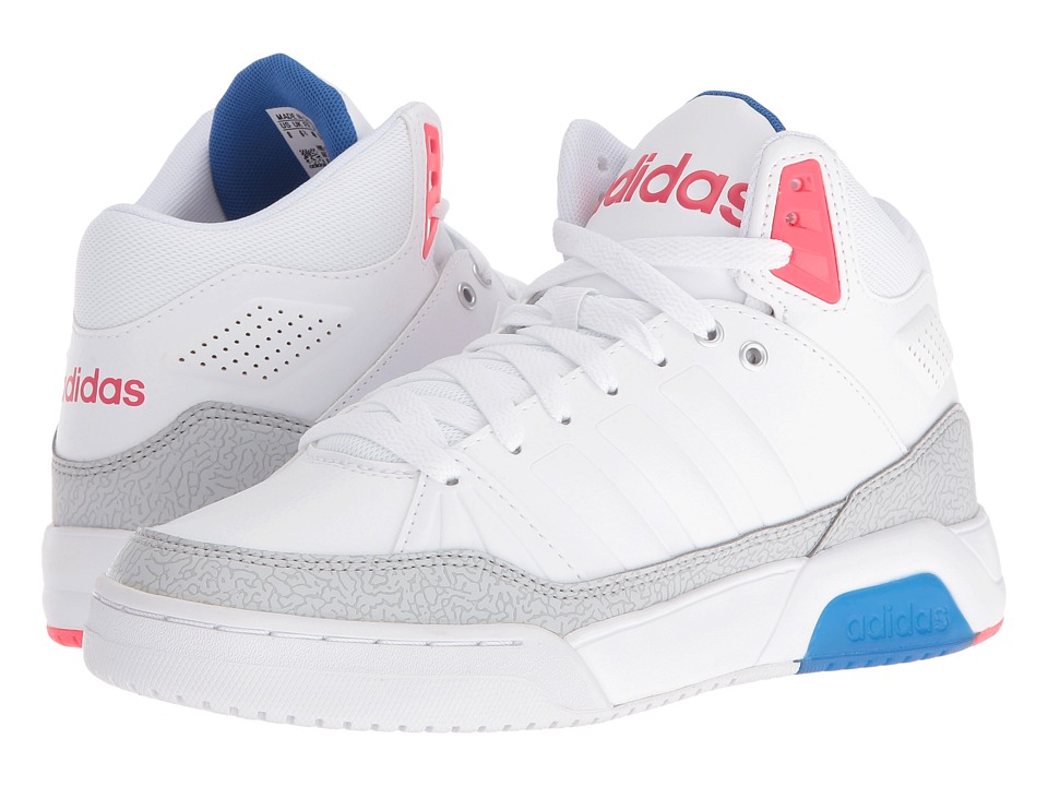 adidas - Play9Tis (White/Shock Red) Women's Shoes