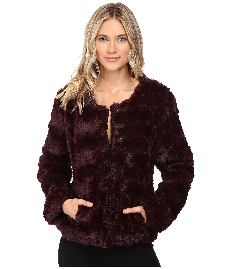 Sanctuary - Faux Real Chubby Jacket (Dark Shiraz) Women's Coat