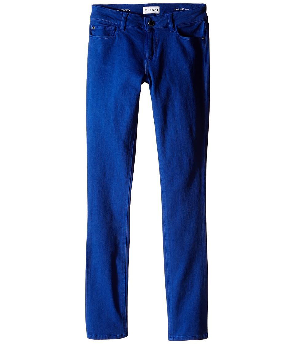 DL1961 Kids - Chloe Skinny Jeans in Bluecrush (Big Kids) (Bluecrush) Girl's Jeans
