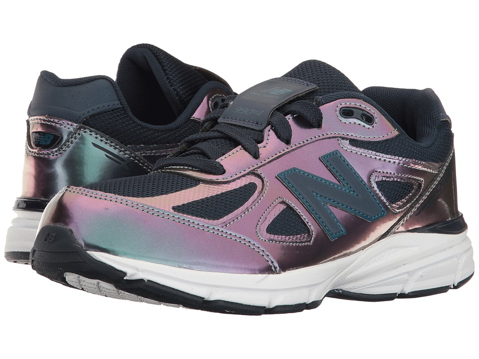 New Balance Kids - KJ990v4 (Big Kid) (Purple/Silver) Girls Shoes
