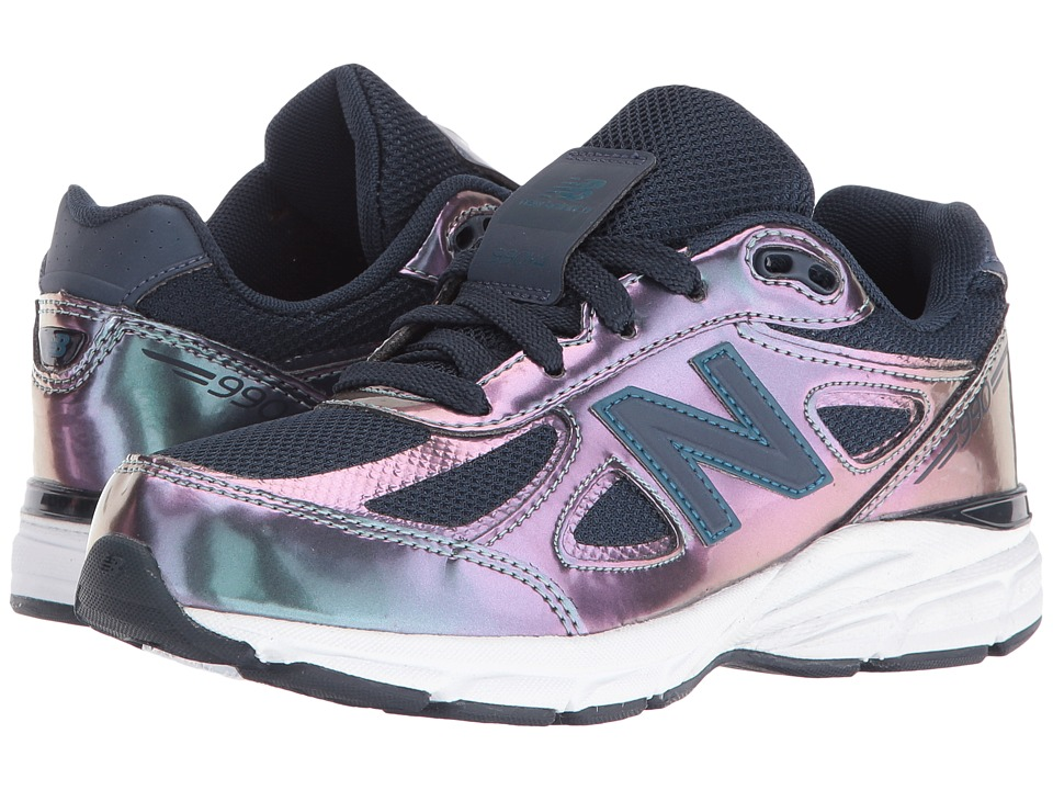 New Balance Kids - KJ990v4 (Little Kid) (Purple/Silver) Girls Shoes