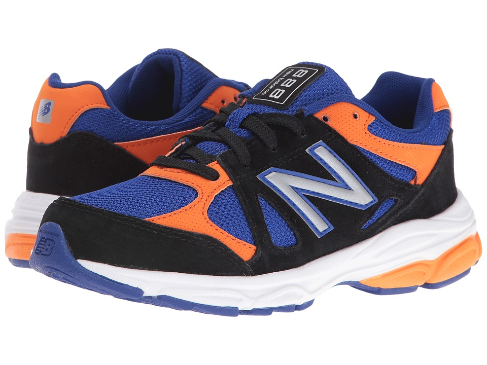New Balance Kids - KJ888v1 (Big Kid) (Black/Blue) Boys Shoes