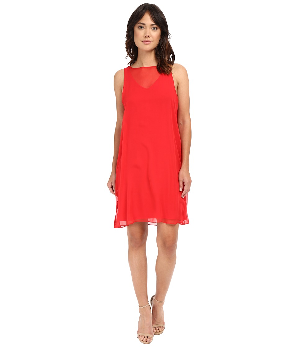 HEATHER - Silk Overlay Dress (Petunia) Women's Dress