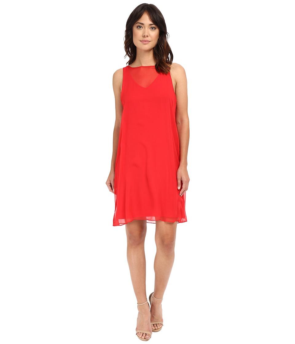 HEATHER - Silk Overlay Dress (Petunia) Women's Dress