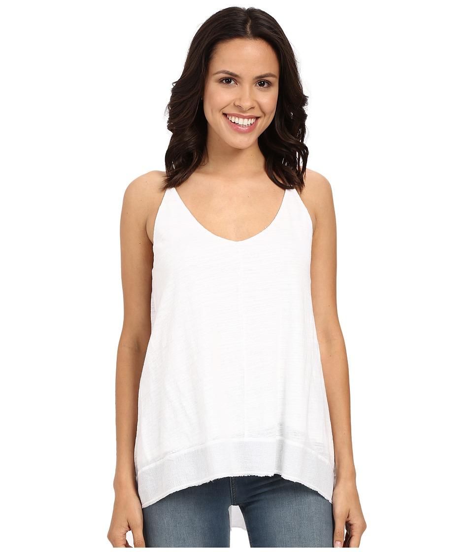 HEATHER Cotton Gauze High-Low Double V-Cami (White) Women