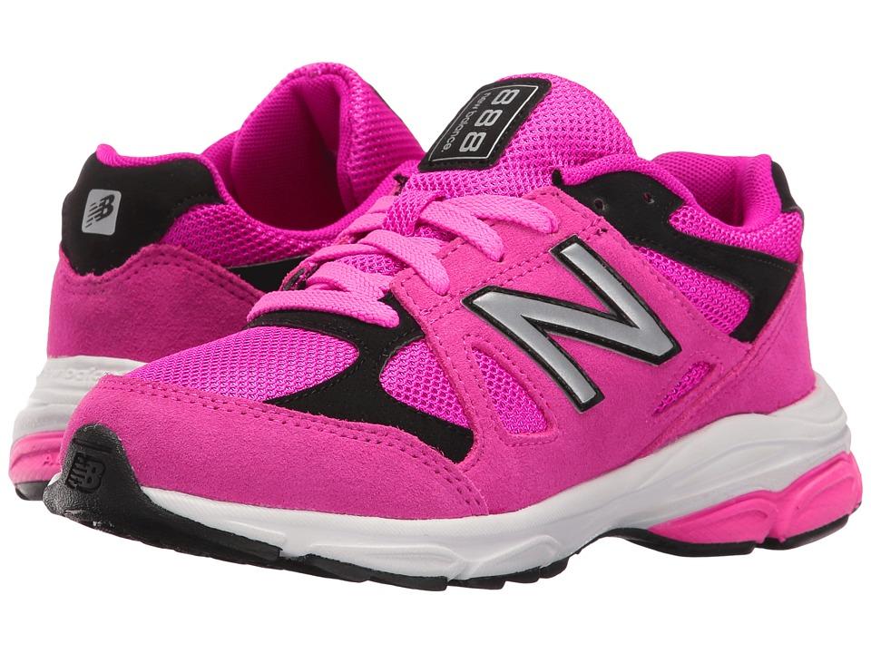 New Balance Kids KJ888v1 (Big Kid) (Pink/Black) Girls Shoes