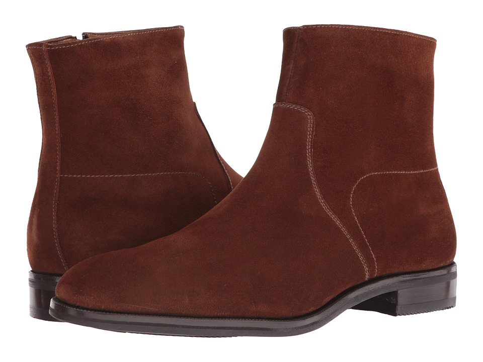 Gravati - Size Zip Plain Toe Suede Boot (Tan) Men's Boots