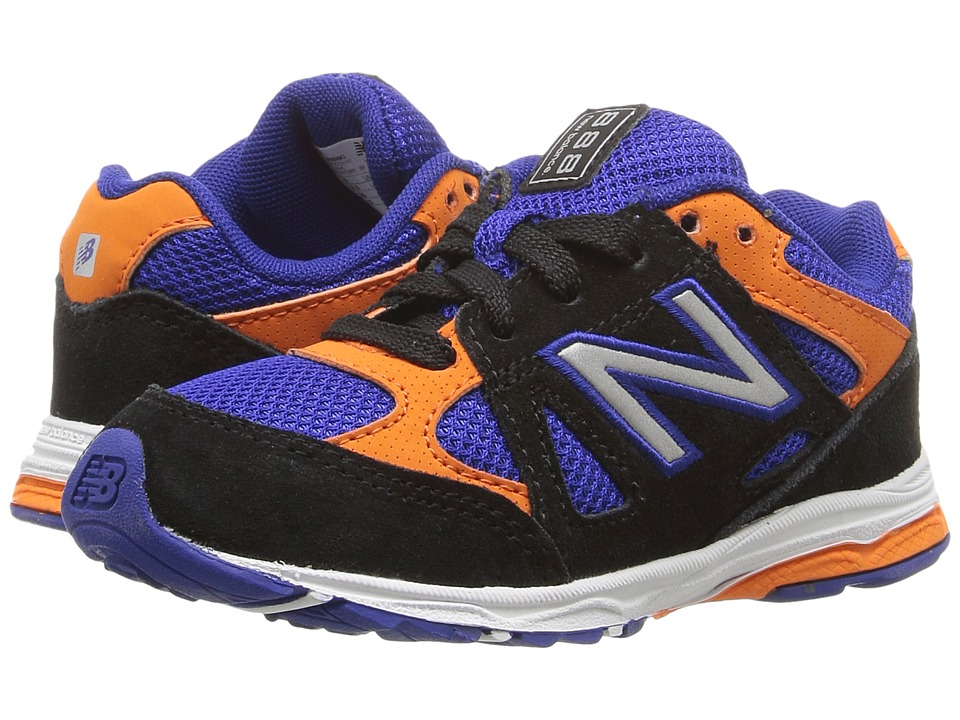 New Balance Kids - KJ888v1 (Infant/Toddler) (Black/Blue) Boys Shoes