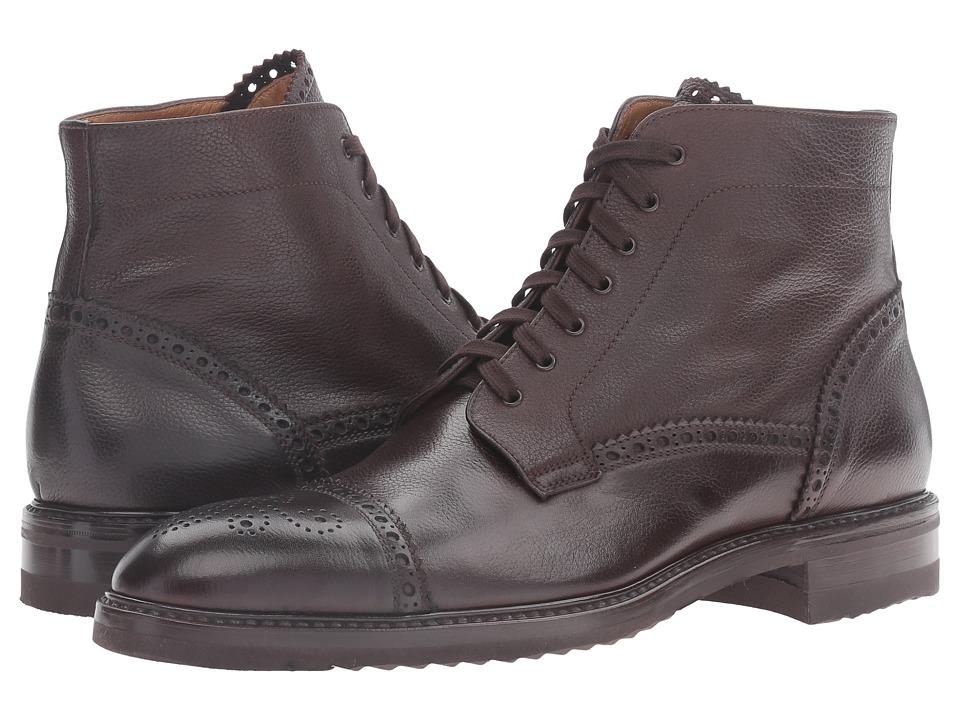 Gravati - Captoe Pebble Grain Leather 7 Eyelet Boot (Brown) Men's Boots