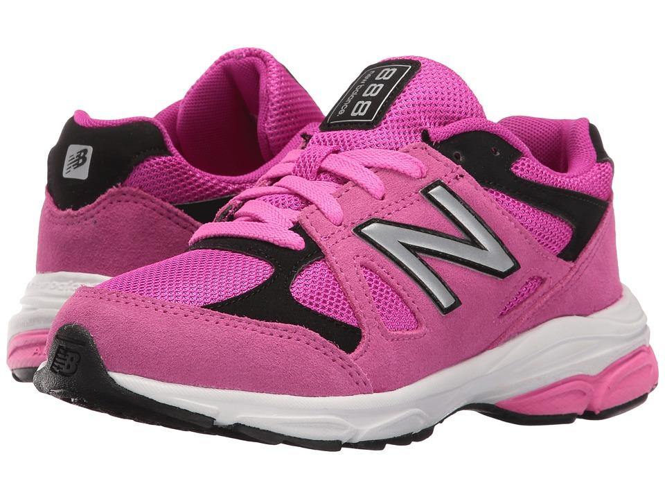New Balance Kids KJ888v1 (Infant/Toddler) (Pink/Black) Girls Shoes