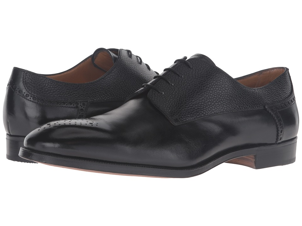 Gravati - Plain Toe 4 Eyelet Blucher (Black) Men's Shoes