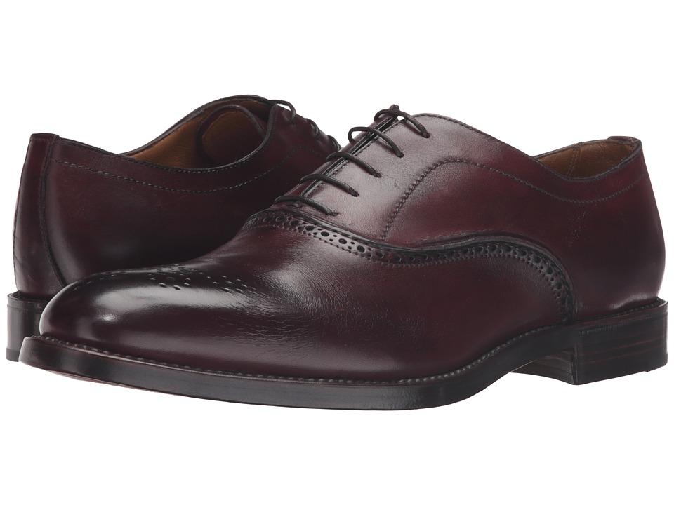 Gravati - 5 Eyelet Medallion Toe (Bordo) Men's Shoes