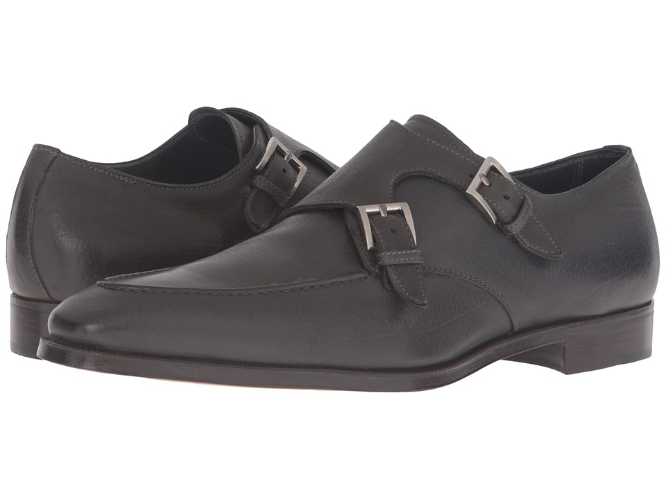Gravati - Double Monk w/ Apron Toe (Grey) Men's Monkstrap Shoes