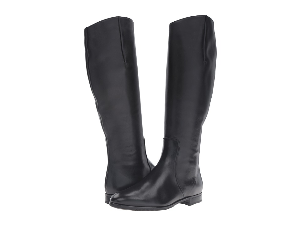 Gravati - Tall Plain Toe Boot (Butter Calf Black) Women's Boots