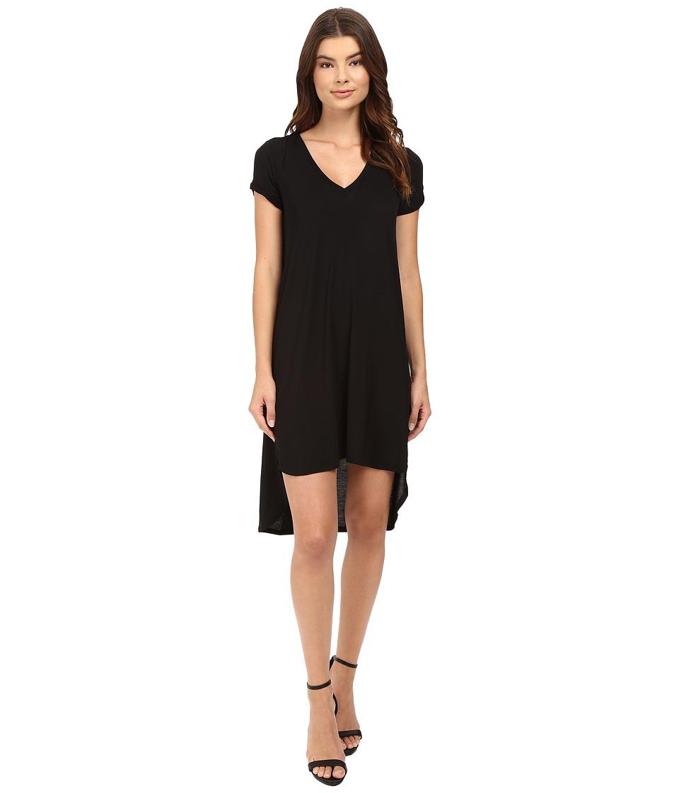 HEATHER - Keyhole Sleeve Tee Dress (Black) Women's Dress