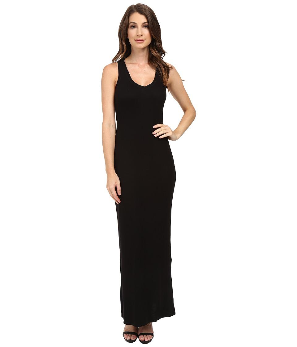 HEATHER - Sleeveless Peekaboo Maxi Dress (Black) Women's Dress