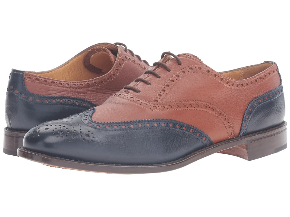 Gravati Calf Toe 5 Eyelet Wingtip (Blue) Women