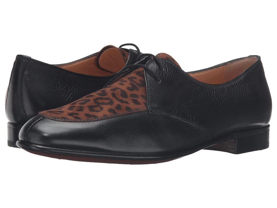 Gravati - Black Calf Leopard Oxford (Black/Leopard) Women's Shoes