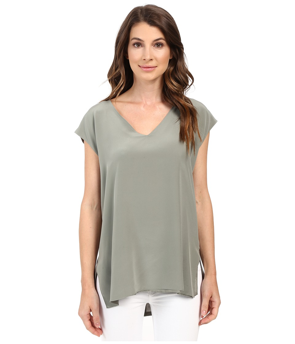 HEATHER - Silk Front Tunic (Cobblestone) Women's Clothing