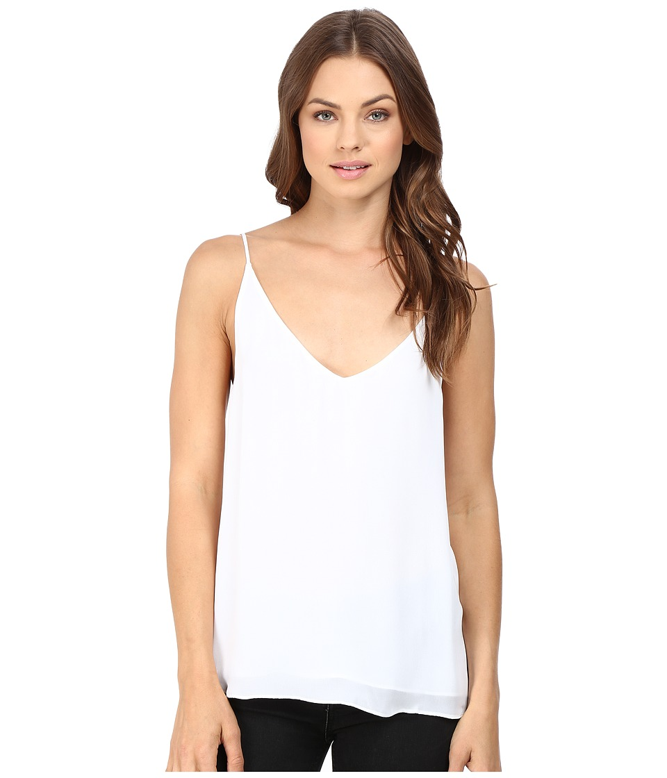 HEATHER - Silk Double Layer Cami Top (White) Women's Clothing