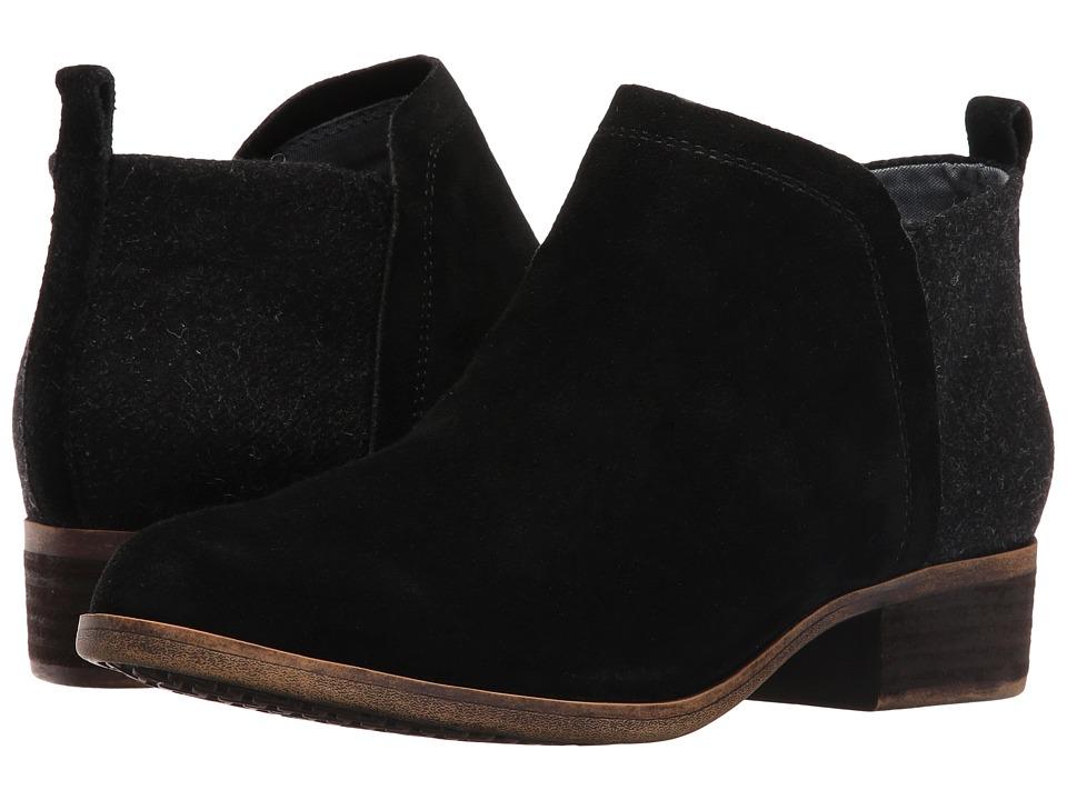 TOMS - Deia Bootie (Black Suede/Wool) Women's Boots