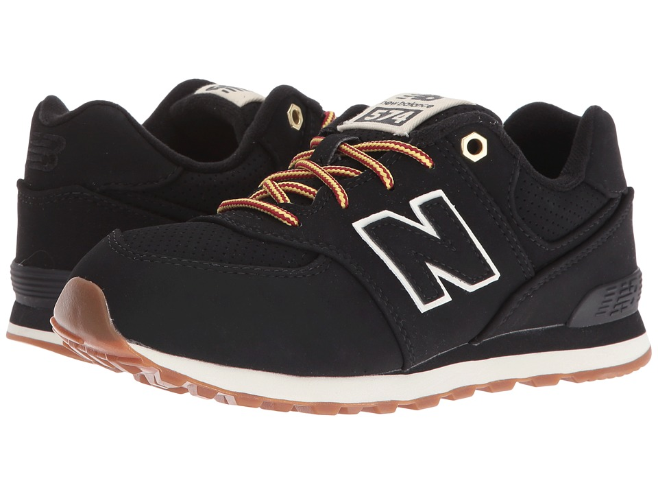New Balance Kids - KL574v1 (Big Kid) (Black/White) Kids Shoes