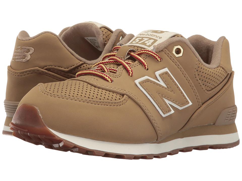 New Balance Kids KL574v1 (Big Kid) (Tan/Tan) Kids Shoes