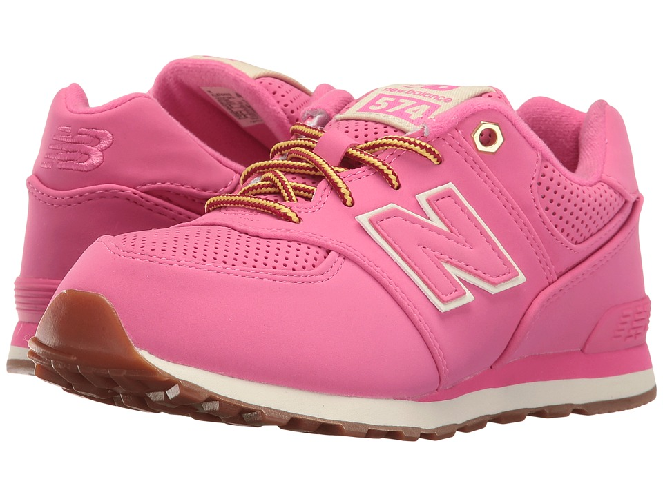 New Balance Kids - KL574v1 (Big Kid) (Pink/Pink) Girls Shoes
