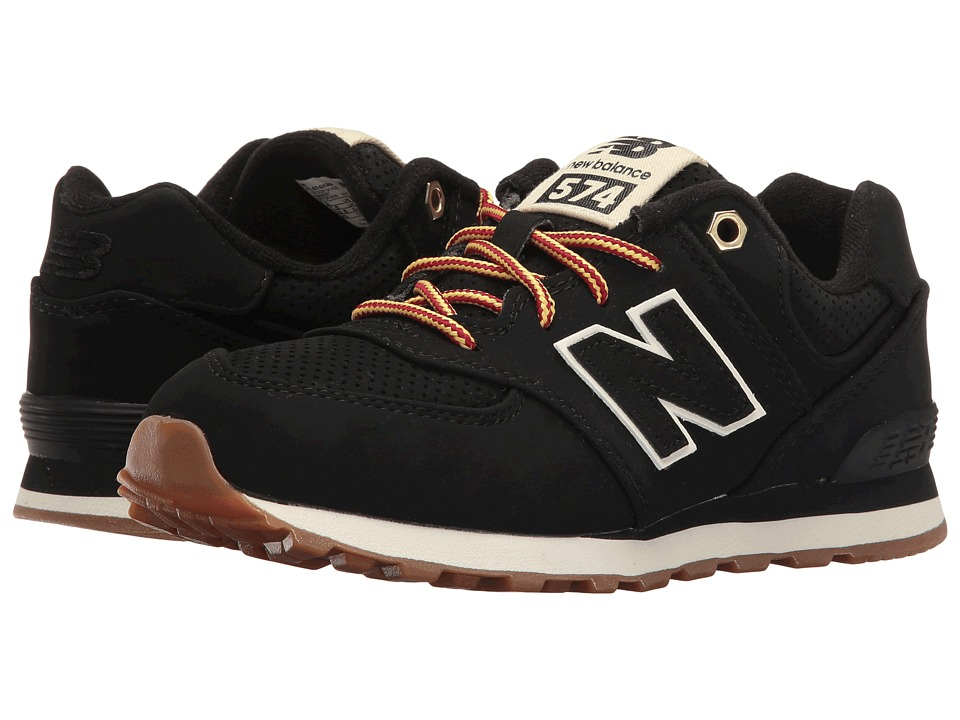 New Balance Kids - KL574v1 (Little Kid) (Black/White) Kids Shoes