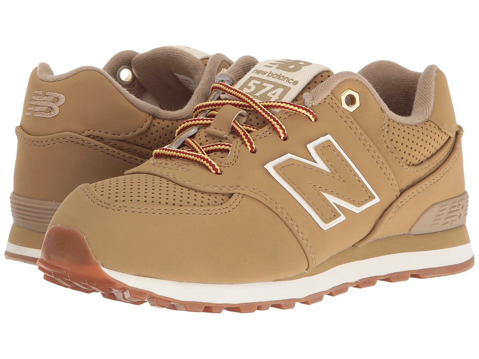 New Balance Kids - KL574v1 (Little Kid) (Tan/Tan) Kids Shoes