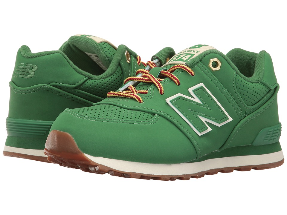 New Balance Kids - KL574v1 (Little Kid) (Green/Green) Kids Shoes