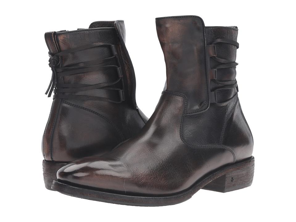 John Varvatos - Keith Lace Boot (Black Sand) Men's Boots