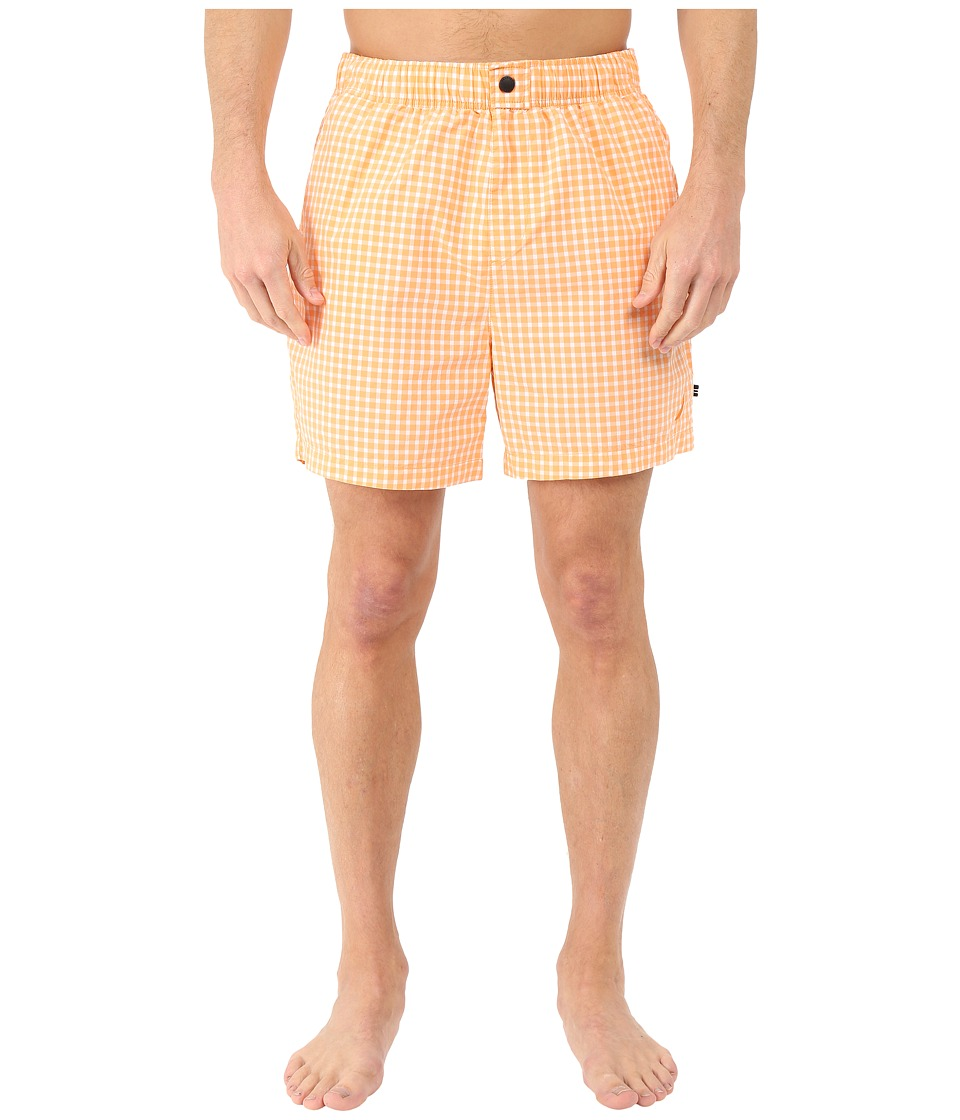 Nautica - Gingham Trunk (Orange Sorbet) Men's Swimwear