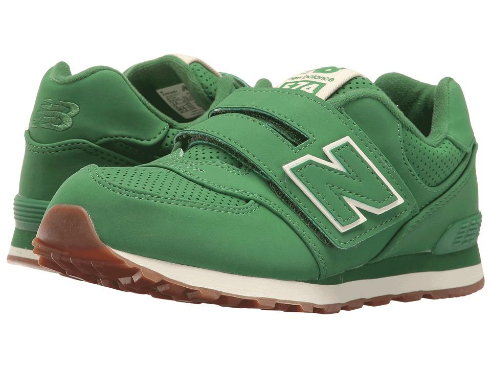 New Balance Kids - KV574v1 (Little Kid/Big Kid) (Green/Green) Kids Shoes