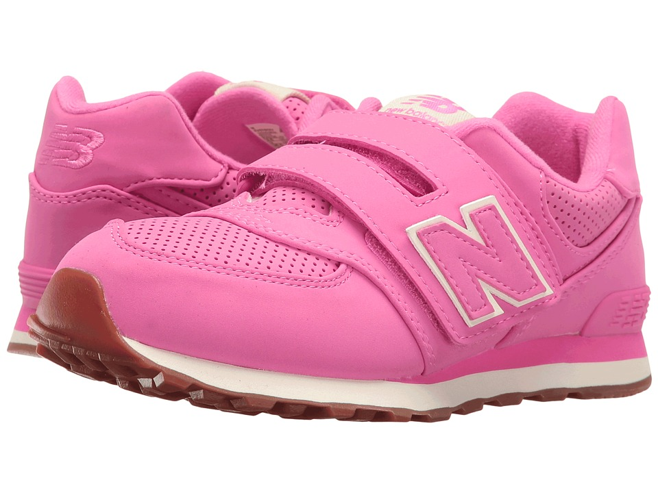 New Balance Kids - KV574v1 (Little Kid/Big Kid) (Pink/Pink) Girls Shoes