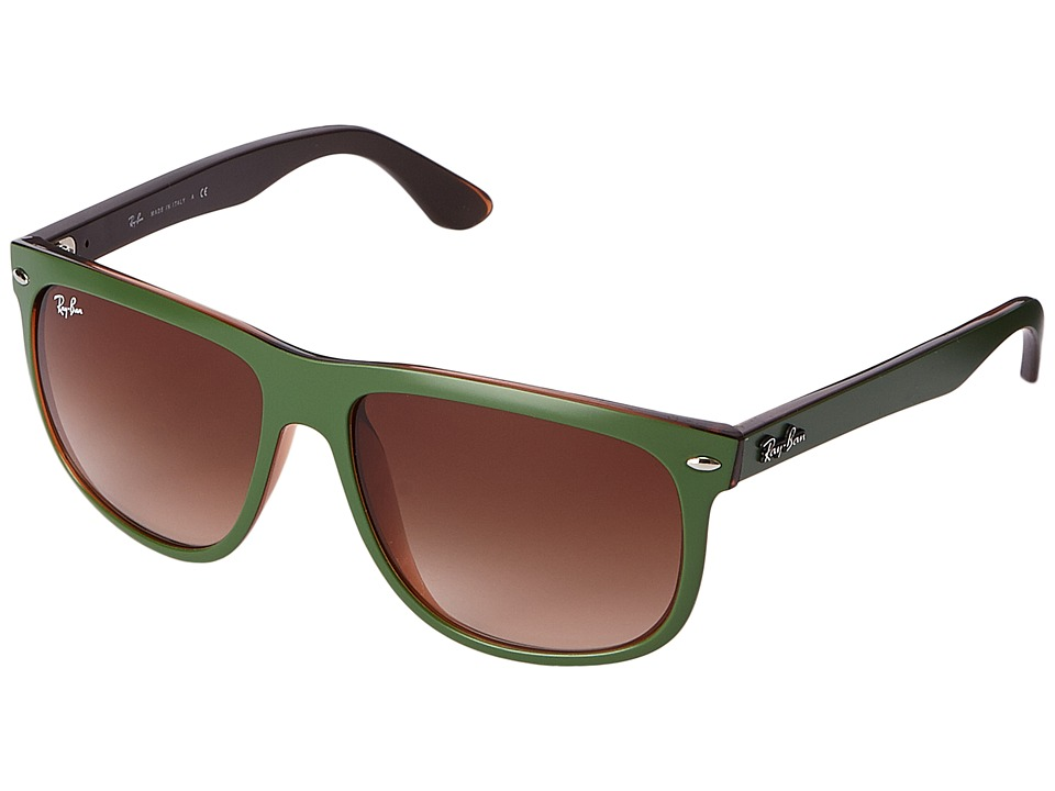 Ray-Ban - 0RB4147 (Matte Green) Fashion Sunglasses